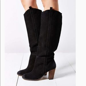 Dolce Vita Black Suede Knee High Boots